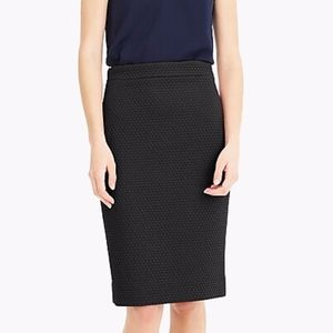 J. Crew No 2 Matelasse Quilted Pencil Skirt